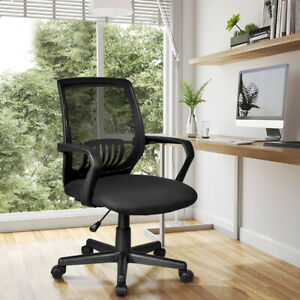 Office Chair Mesh Computer Desk Chair Lumbar Support Adjustable Rolling Wheels