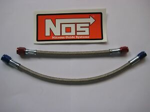 Shawing Sale Nos Nitrous Nx Zex Holley 4an X 3an Blue Red Line Hose Kit New