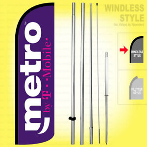 Metro By T mobile Windless Swooper Flag Kit 15 Feather Banner Sign Pq h