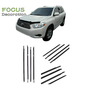 4pcs Car Weather Strip Window Moulding Trim Seal Belt For Toyota Rav4 2009 2012
