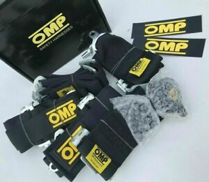 Omp Black 6 Point Cam Lock Harness Quick Release Seat Belt Racing Universal