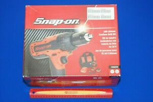 New 760 Snap On Tools 18 V 1 2 Drive Monsterlithium Hammer Drill Kit Cdr8850h