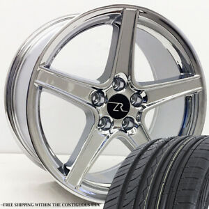 18 Chrome Mustang Saleen Style Wheels Tires Free Shipping 18 Inch Rims Tires