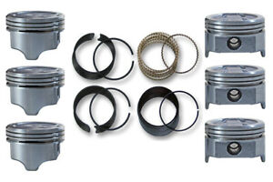 88 94 Fits Chevrolet Gm Car 3 1l Ohv V6 6 Dish Pistons Cast Rings W Iron Heads