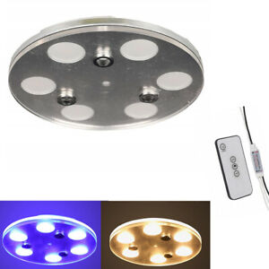 Facon 6 Light Led Ceiling Dome Light Fixture Remote For Rv Trailer Boat Camper