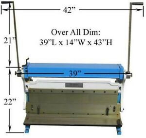 30 Inch Heavy Duty Sheet Metal Shear Brake Roll 3 in 1 Combo Max 20 Gauge