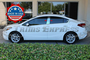 Fit 2014 2018 Kia Forte 4 Door Sedan 4pc Pillar Post Stainless Steel Trim