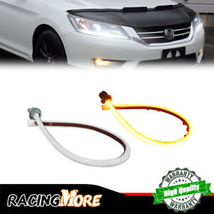 70 Led Switchback Headlight Sequential Drl Light Strip For 13 15 Honda Accord