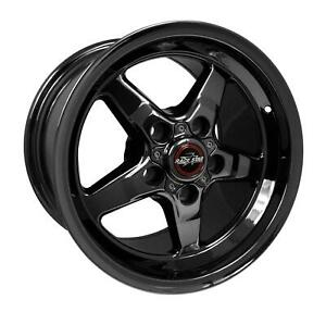 Race Star Dark Star 92 15x10 5x4 3 4 Alum 1pc Blk Chrome Each Wheel 92 510254dsd
