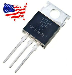 Bt136 600e 5 Pcs 600v 4a To 220 Triac From Usa