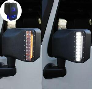 Rear View Side Mirror Light W Led Turn Signal For 07 18 Jeep Wrangler Jk Jku