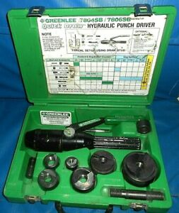 Greenlee 7804sb 7806sb Hydraulic Punch Driver Kit Quick Draw Slugbuster W manual