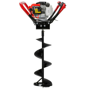 55cc 2 stroke Gas powered Ice Post Hole Digger Motor With 10 Ice Auger Bit