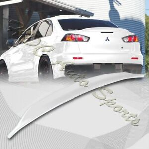 For 2008 2017 Mitsubishi Lancer Evo 10 Painted White Rear Trunk Duck Lid Spoiler