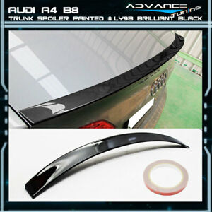 09 12 Audi A4 B8 A Type Trunk Spoiler Oem Painted Color Ly9b Brilliant Black