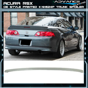 02 06 Rsx Trunk Spoiler Decklid Oem Painted Color Nh624p Premium White Pearl