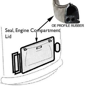 Vw Vintage Parts Engine Comparment Seal Oe Style Profile 50 79