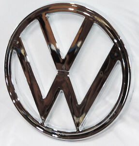 Vw Vintage Parts Emblem Front Nose Bus s 73 79 Plastic Chrome