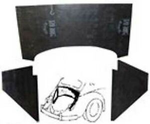 Vw Vintage Parts Firewall Insulation Tarboard 3pc 5 6mm Thick All Bug s