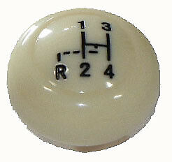 Vw Vintage Parts Shifter Knob 7mm Ivory Early Style With Shift Pattern