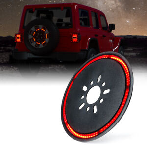 Xprite 14inch Led Brake Tail Spare Tire Light For 2018 2020 Jeep Wrangler Jl Jlu