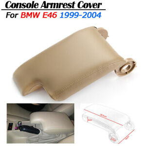 Beige Pu Leather Armrest Center Console Lid Cover For Bmw E46 3 Series 1999 2004