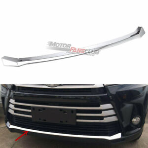 For Toyota Highlander 2017 2018 2019 Chrome Front Bumper Protector Guard Cover