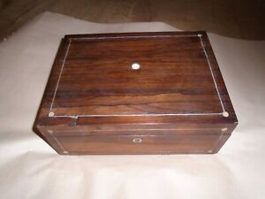 Victorian Rosewood Sewing Box