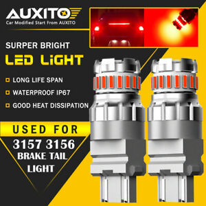 Auxito 3157 Red Led Strobe Flashing Blinking Brake Tail Light Parking Bulbs 2f3