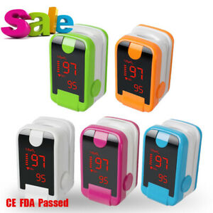 5x Medical Fingertip Pulse Oximeter Oximetry Blood Oxygen Saturation Monitor