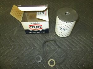 Texaco Vintage Nos T 15 Oil Filter With Box Ford 57 74 Ch330pl