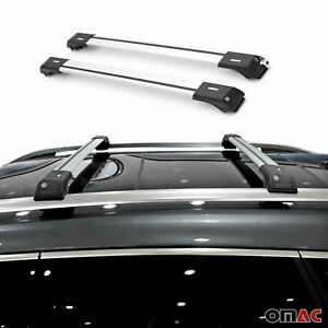Roof Rack Cross Bars Luggage Carrier Silver Set For Subaru Forester 2013 19