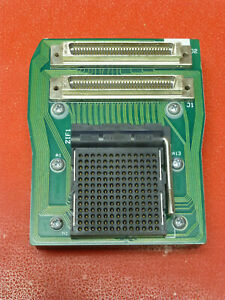 Aries 169 prs 13001 12 13x13 Pga Zif Ic Test Socket Pcb Mounted W Connectors