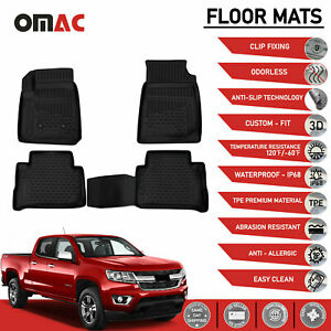 Floor Mats Liner 3d Molded Fits Chevrolet Colorado Crew Cab 2015 2020