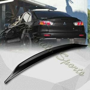 For 2008 2017 Mitsubishi Lancer Evo 10 Painted Black Rear Trunk Duck Lid Spoiler