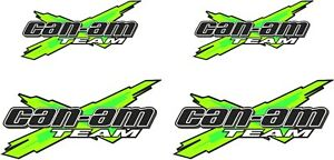 Can Am Team X Logo Green 4 Pack Vinyl Vehicle Atv Graphic Sticker Decal