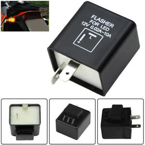 2 Pin Electronic Led Flasher Relay Fix For Turn Signal Light Fast Hyper Flash Us
