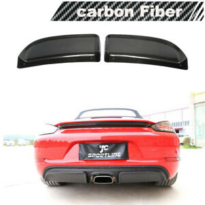 For Porsche 718 Boxster Cayman Carbon Fiber Rear Diffuser Canards Splitter 16 19