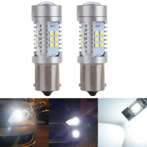 2x Super White 1156 1141 Led 21 Smd 6000k Backup Lights 60w Reverse Driving Bulb