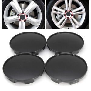 4pcs 68mm Black Wheel Hubs Center Universal Wheel Rim Hub Cover Caps Abs Plastic