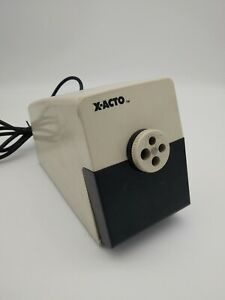 X acto Commerical Electric Pencil Sharpener Model 41 Tested Powerful Industrial