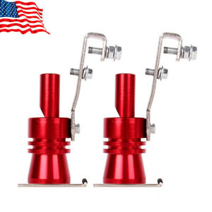 2 Universal Turbo Sound Exhaust Whistle Blow Valve Simulator Whistler Xl Red