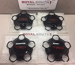 Toyota Tundra 2015 2017 Trd Pro Wheel Center Cap Set 4 Genuine Oe Oem