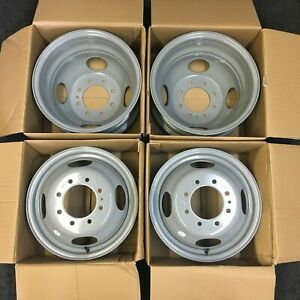 Set Of 4 16 Dually Steel Wheels Rim For 99 04 Ford F350sd Drw Super duty 3336