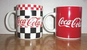 2 Gibson Coca Cola Mugs From 1996 & 1998