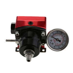 Red Injected Bypass Fuel Pressure Regulator With An6 Inlet And An6 Return