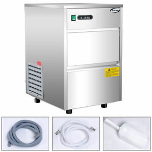 1automatic Ice Maker Stainless Steel 58lbs 24h Freestanding Commercial Home Use