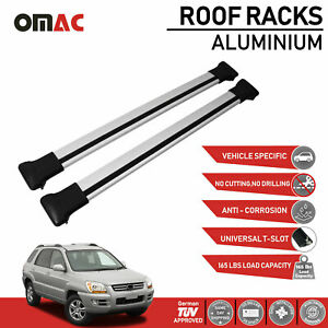 Roof Rack Cross Bars Luggage Carrier Silver For Kia Sportage 2005 2010