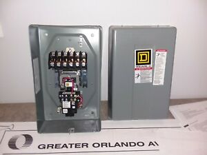 Square D 20 Amp 6 Pole Enclosed Lighting Contactor Coil 120 Vac 8903lx060 8903lx