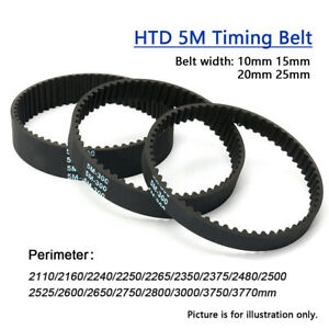 Htd 5m Timing Belt 2110 3770mm Length 5mm Pitch Closed Loop Rubber Belt For Cnc